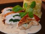 Kuřecí se špenátem a česnekovou omáčkou recept