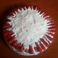 Jahodový koláč se šlehačkou recept