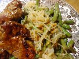 Perfect pasta (zeleninové špagety) s fazolkami recept