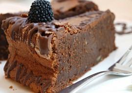 Čokolískový dort bez mouky recept