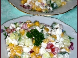 Cottage zeleninový salát recept