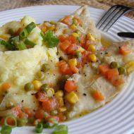 Kuřecí plátky dušené na zelenině recept