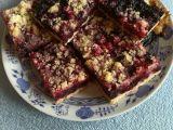 Třený borůvkový koláč s drobenkou recept