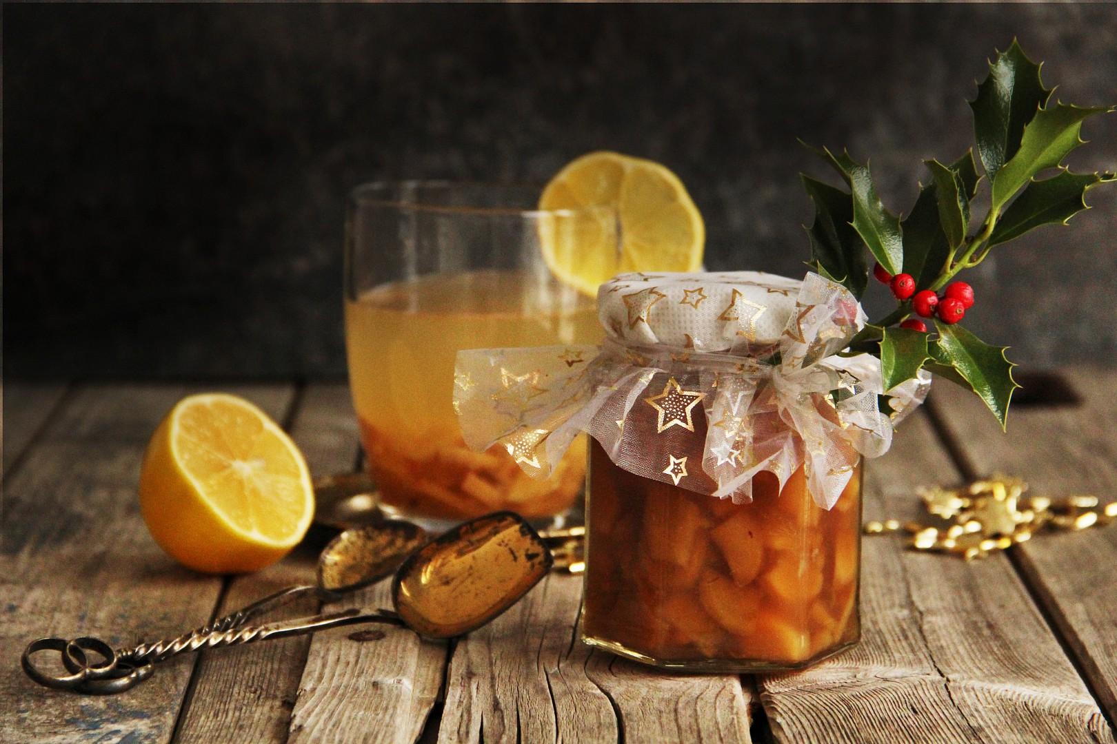 Pečený zázvorový čaj s citrusy recept
