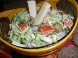 Zeleninový salát s Cottage recept