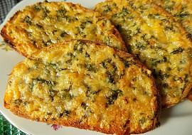 Zapečený bylinkový chleba recept