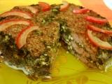 Špenátovo-masový dort recept