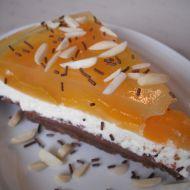 Čokoládovo-tvarohový koláč s meruňkami recept