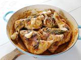 Kuřecí stehna na česneku a rozmarýnu recept