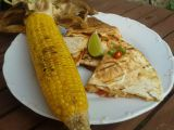 Kuřecí fajita quesadillas na grilu s kukuřičným klasem recept ...