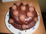 Čokoládový dort Ferrero Rocher recept