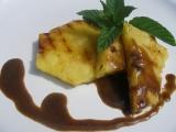 Grilovaný ananas s kávovou omáčkou recept
