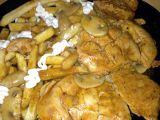 Kuřecí maso na žampionech s americkými bramborami recept ...