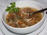 Polévka z mletého masa s houbami recept