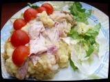 Zapečená bramborová kaše s uzeným kuřecím masem recept ...