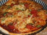 Celozrnná vegetariánská pizza  bez kynutí recept