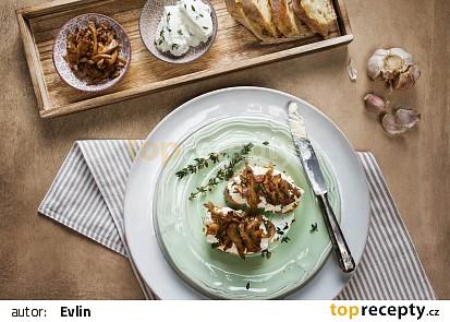 Crostini s tymiánovou riccotou a grilovanými houbami recept ...
