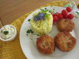 Cuketovo-šunkové medailonky se šťouchanými bramborami a ...