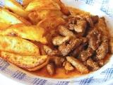 Čertovy špalíčky s pečeným bramborem recept