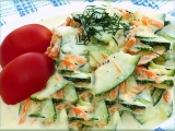Cuketový salát s mrkví recept