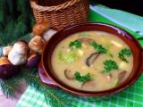Houbová polévka s kapustou a bramborem recept