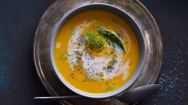 Dýňová polévka s fenyklem a zázvorem