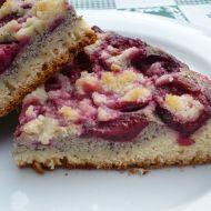 Švestkový koláč s tvarohovo- makovou náplní recept