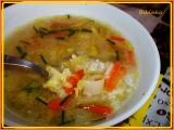 Rychlá zapražená rýžová polévka s kapustičkami-třeba když zbyde ...