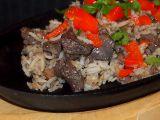 Játrové rizoto s morkem a pečenou paprikou recept