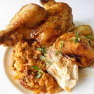 Pečené kuře s fazolovou nádivkou recept