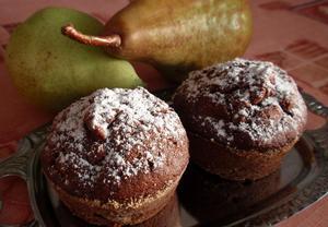 Hruškové muffiny