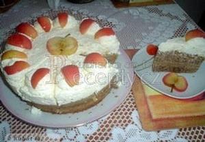 Tvarohový dort s jablky