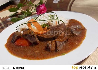 Vepřová játra na ajvaru a zelenině recept