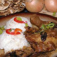 Kuřecí stehna na houbách recept
