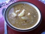Fazolová polévka s angl. slaninou recept