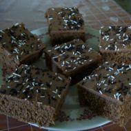 Kakaovo-kávové řezy s polevou recept