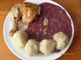 Kuře s červeným zelím a br. knedlíkem recept