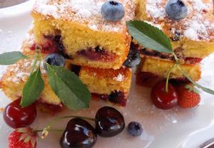 Hrníčkový koláč (bublanina) z kefíru  ovocný