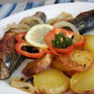 Makrely pečené na cibuli recept