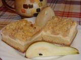 Hruškový koláč s tvarohovou náplní a špaldovou žmolenkou recept ...