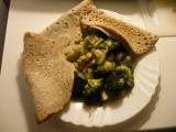 Pohankové palačinky s dušenou zeleninou recept