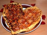 Pizza ve tvaru srdce recept