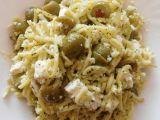 Špagety s olivami a sýrem recept