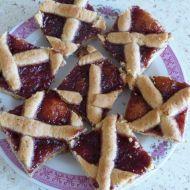 Škvarkový mřížkový koláč s povidly recept