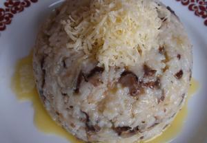Houbové rizoto se sýrem