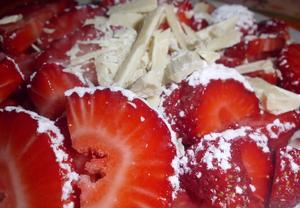 Jahody s bílou čokoládou