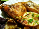 Kuřecí stehna s bramborami recept