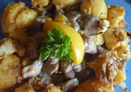 Smetanové kuřecí nudličky s broskví recept