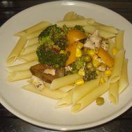 Těstoviny se zeleninou a masem recept