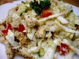 Zeleninový salát s kuřecím masem a kuskusem recept